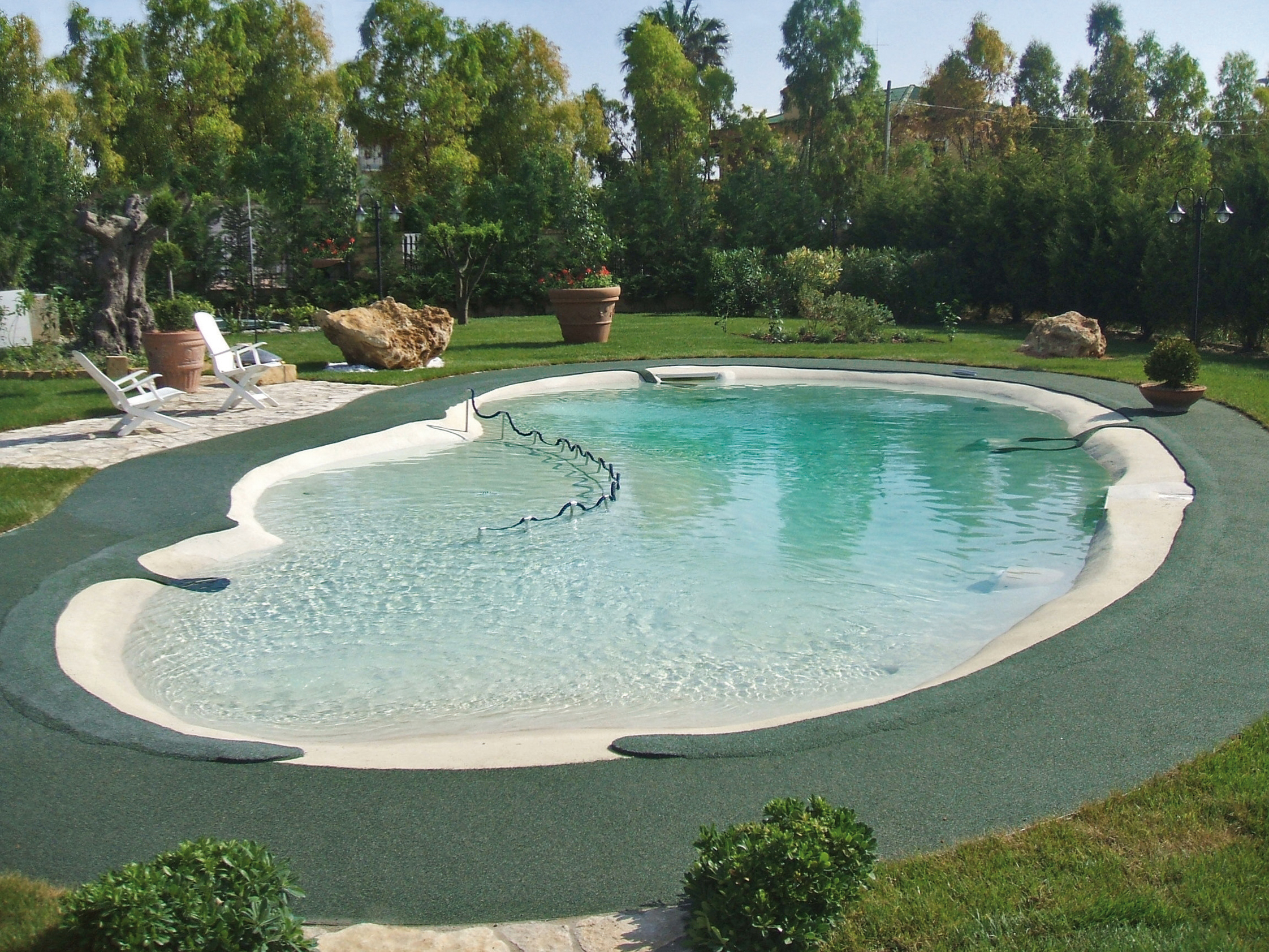 Benza realizzazione di piscine prefabbricate bio for A forma di piani di casa con piscina