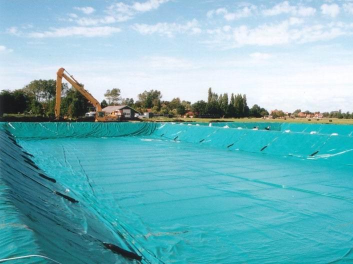Benza vasche prefabbricate per la zootecnia laghi per for Teli per laghi artificiali