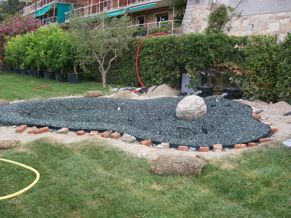Benza laghetti da giardino cascate e ruscelli artificiali for Foto di giardini per villette